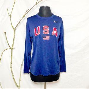 Nike USA Long Sleeve Active Top XS